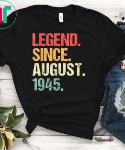 Born In AUGUST 1945 74th Birthday Gift 74 Years Old T Shirts