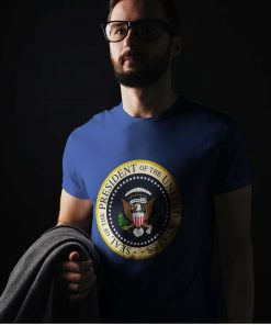 Fake Presidential Seal, Parody Presidential Seal, Anti Trump Shirt, Funny, Extremely Stable Genius, Charles Leazott, 45 is a Puppet