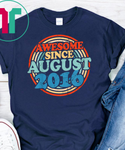 Kids Awesome since August 2016 T-Shirt Vintage 3rd Birthday gift