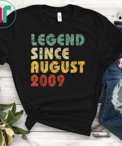 Legend Since August 2009 Vintage Birthday Funny T-Shirts