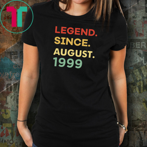 Legend since August shirt birthday custom t shirt birthday shirt birthday gift for him birthday gift for her of being awesome shirt