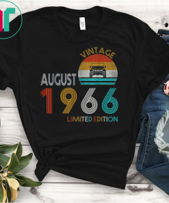 Retro Classic Vintage Jeeps August 1966 53th Birthday Jeeps T-Shirts