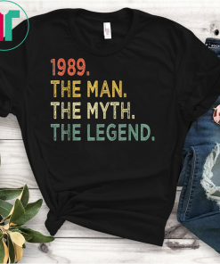Retro Vintage 1989 30 Years Old Shirt Perfect 30th Birthday