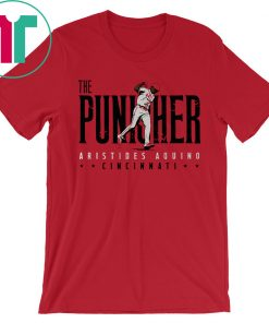 Aristides Aquino Shirt The Punisher, Cincinnati, MLBPA Shirt