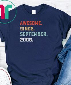 Awesome Since September 2003 Birthday Gift For 16 Yrs Old D1 T-Shirt