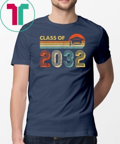 Class Of 2032 Grow With Me Pre-K Graduate Vintage Retro T-Shirt