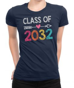 Class Of 2032 Shirt Pre-K Graduate Preschool Graduation T-Shirt