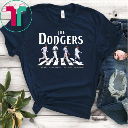The dodgers signatures abbey road crosswalk Funny Tee Shirt