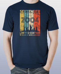 Vintage September 2004 Shirt 15 Year Old 2004 Birthday Gift T-Shirt