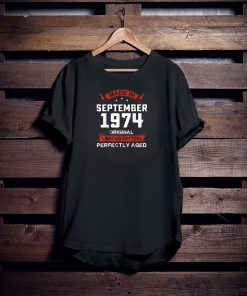 Vintage September Shirt 1974 Birthday Gift For 45 Yrs Old H1 T-Shirt