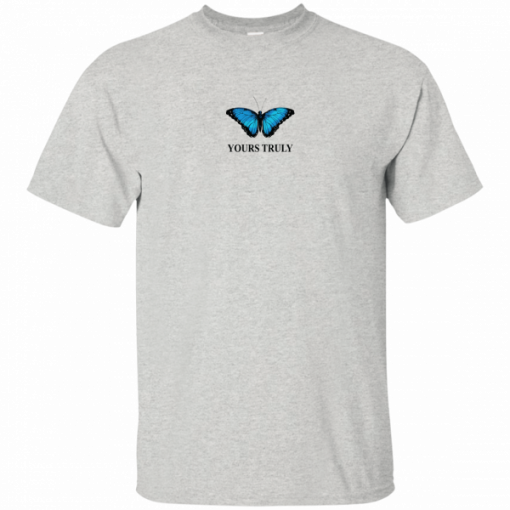 Yours truly blue butterfly shirts