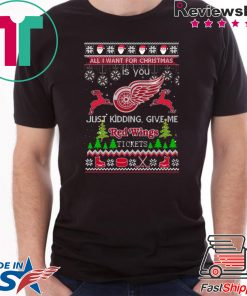 All I Want For Christmas Is You Detroit Red Wings Ice Hockey Ugly Christmas T-Shirt