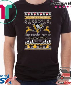 All I Want For Christmas Is You Pittsburgh Penguins Ice Hockey Ugly Christmas T-Shirt
