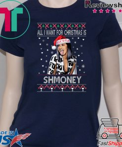 All I Want For Christmas Is Shmoney Cardi B Okurrr T-Shirt