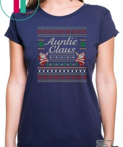 Auntie Claus Ugly Christmas T-Shirt