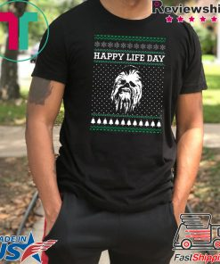 Wookiee Happy Life Day Christmas T-Shirt